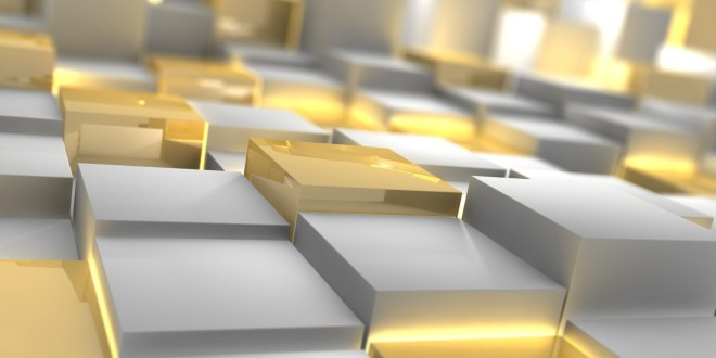 Silver-Gold-Cubes-Square-Form-WallpapersByte-com-3840x2400